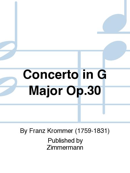 Concerto in G Major Op. 30