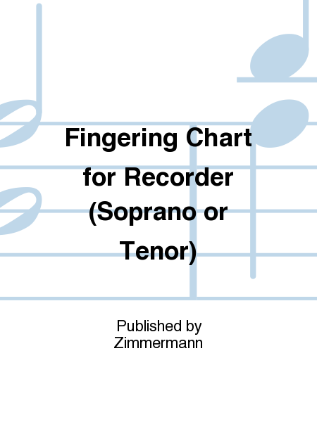 Fingering Chart for Recorder (Soprano or Tenor)