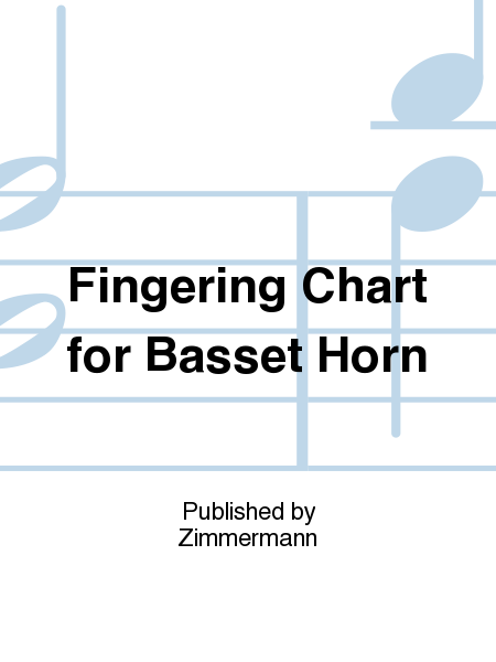 Fingering Chart for Basset Horn