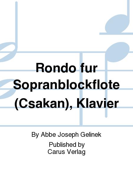 Rondo fur Sopranblockflote (Csakan), Klavier