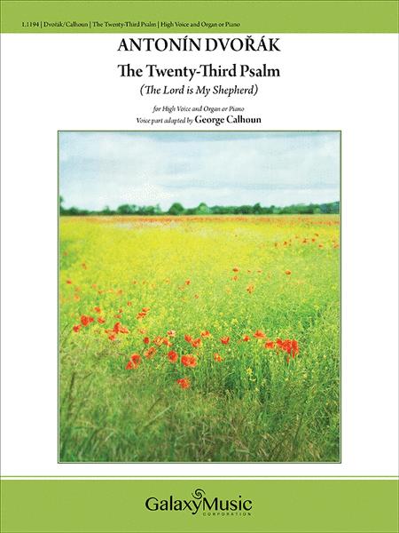 The twenty third psalm sheet music by antonin dvorak sheet music