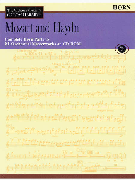Mozart and Haydn - Volume VI (Horn)
