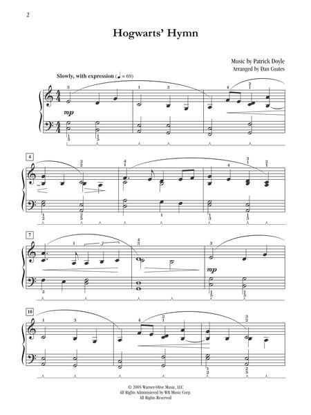 Hogwarts' Hymn (Easy Piano)