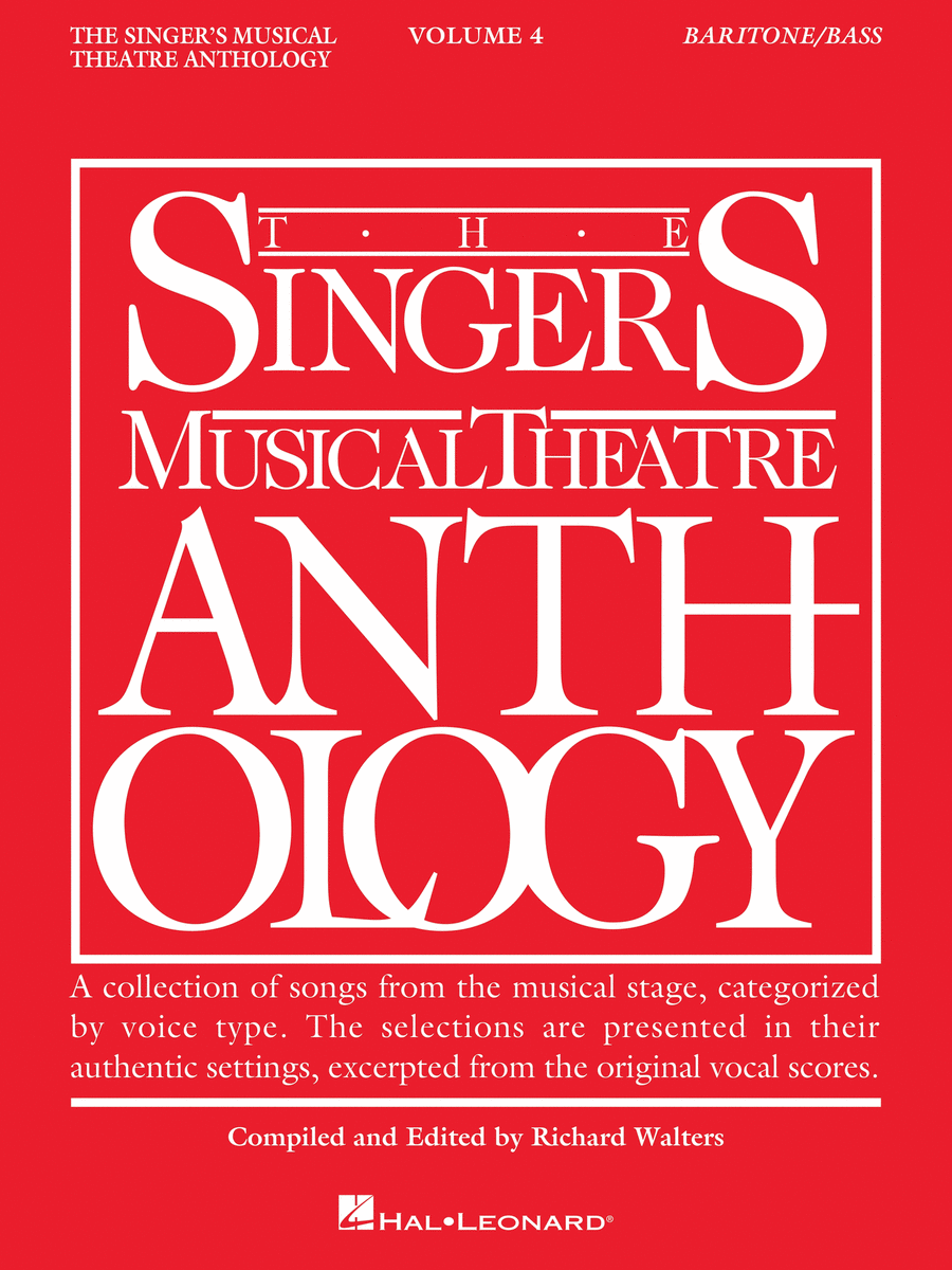 The Singer's Musical Theatre Anthology - Volume 4 - Baritone/Bass