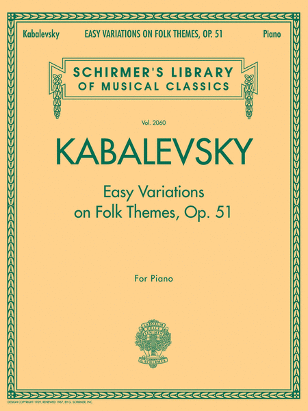 Easy Variations on Folk Themes, Op. 51