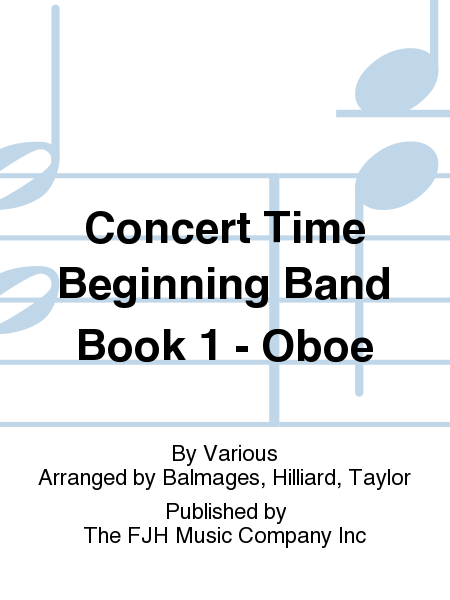 Concert Time Beginning Band Book 1 - Oboe