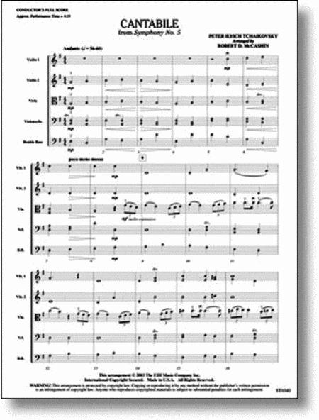 Cantabile (from Tchaikovsky's Symphony No. 5)