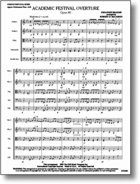 Academic Festival Overture, Opus 80