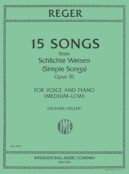 15 Songs from Schlichte Weisen (Simple Songs) - Opus 76