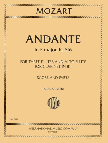 Andante in F major, K. 616 - Flute Quartet