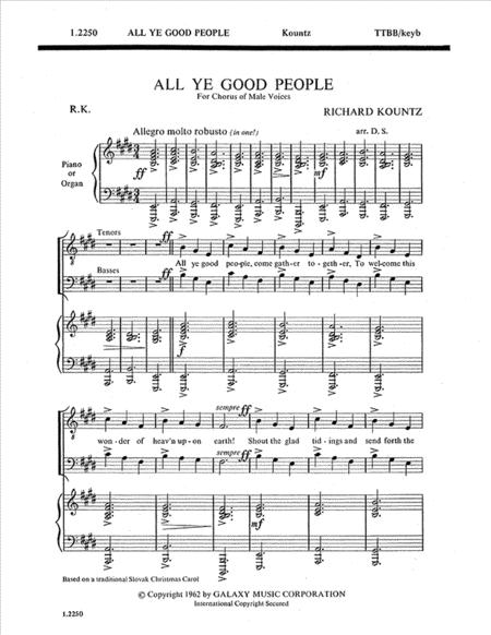 All Ye Good People