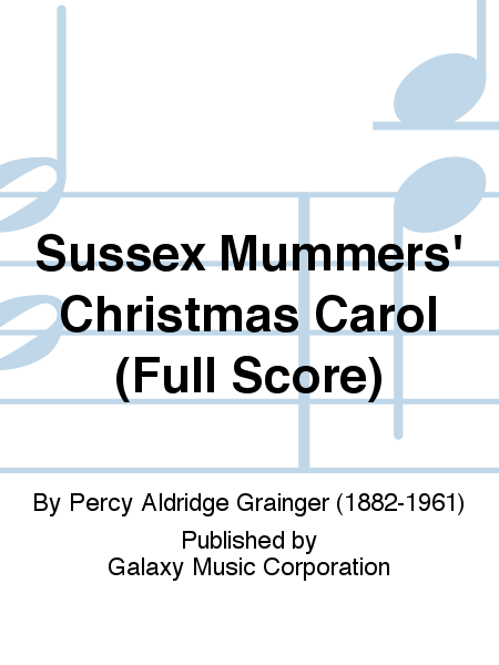 Sussex Mummers' Christmas Carol (Additional Band Full Score)