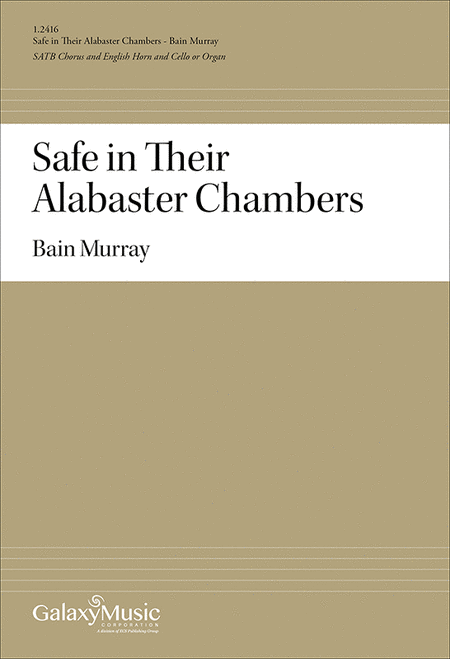 """an introduction to being safe in alabaster chambers Being granted, and a copy of  1862 mar 1 """"safe in their alabaster chambers"""" published by the springfield  emily dickinson collection."""