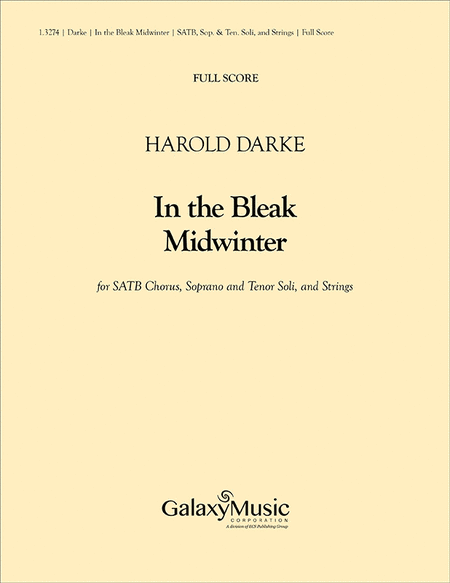 In the Bleak Midwinter (Full Score)