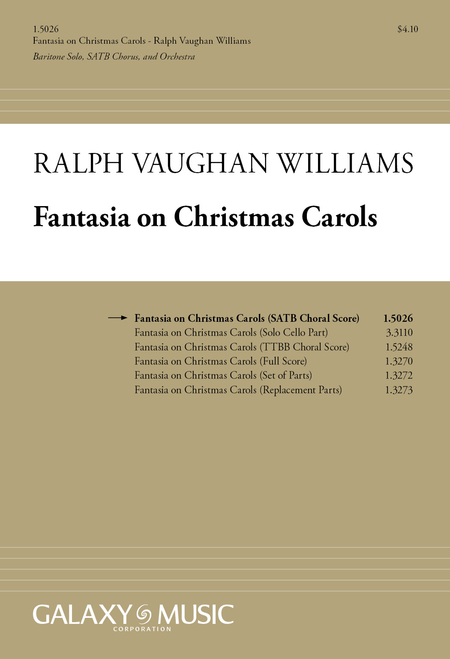 Fantasia on Christmas Carols (Choral Score)