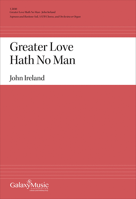 Greater Love Hath No Man