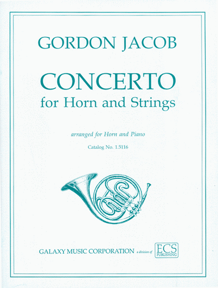 Concerto for Horn & Strings (Horn Part & Piano Score)
