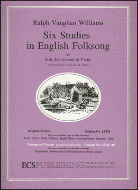 Six Studies in English Folksong - Euphonium/Baritone