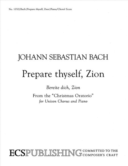 Prepare thyself Zion (Bereite dich, Zion)