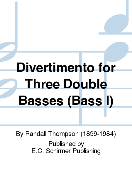 Divertimento for Three Double Basses (Bass I)