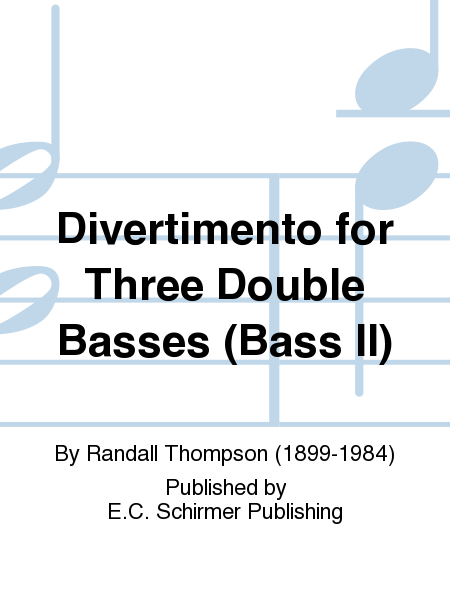 Divertimento for Three Double Basses (Bass II)