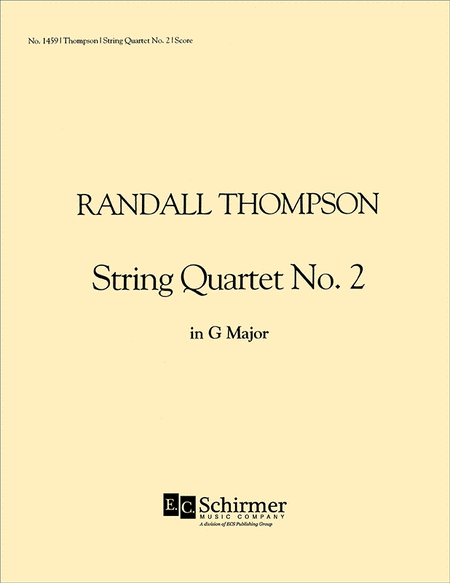 String Quartet No. 2 (Score)