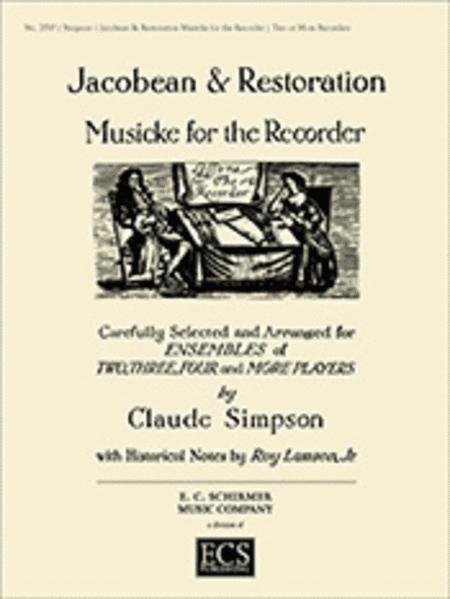 Jacobean & Restoration Musicke for Recorder