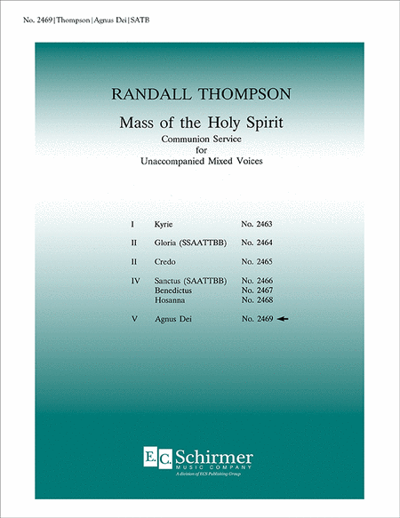Mass of the Holy Spirit: No. 7. Agnus Dei