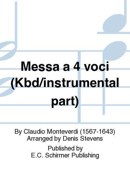 Messa a 4 voci (Kbd/instrumental part)