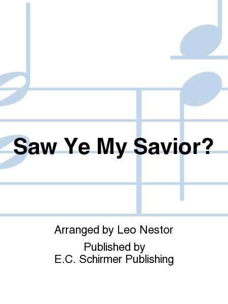Saw Ye My Savior?