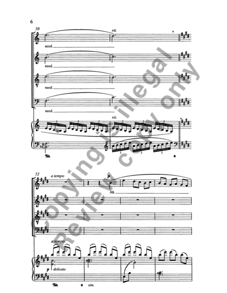 Songs for Women's Voices: No. 6. I Will Be Earth (SSATB Choral Score)