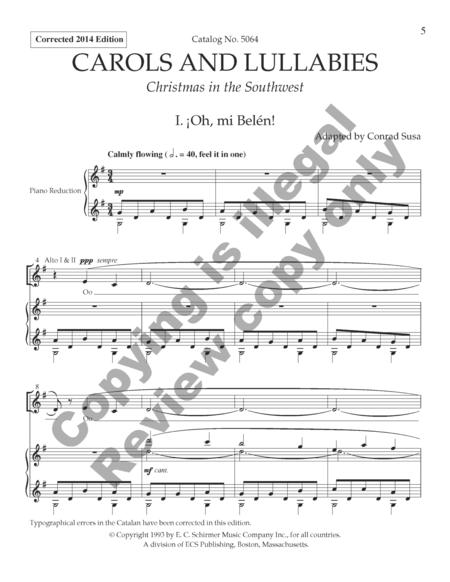 Carols and Lullabies (Choral Score)