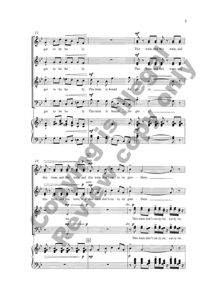 This Train (Piano/Choral Score)