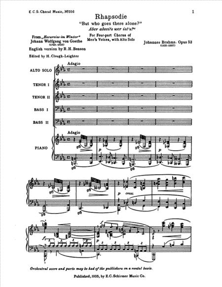 Alto Rhapsody, Op.53