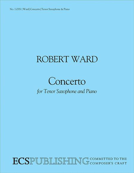 Concerto for Tenor Saxophone & Orchestra (Saxophone/piano score)