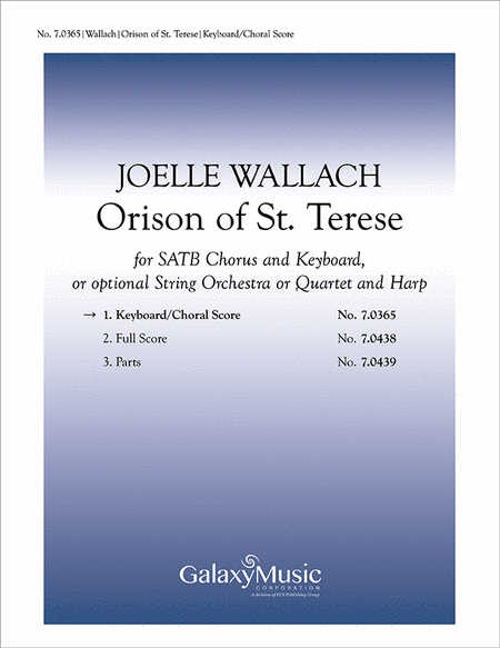 Orison of St. Theresa (piano/choral score)