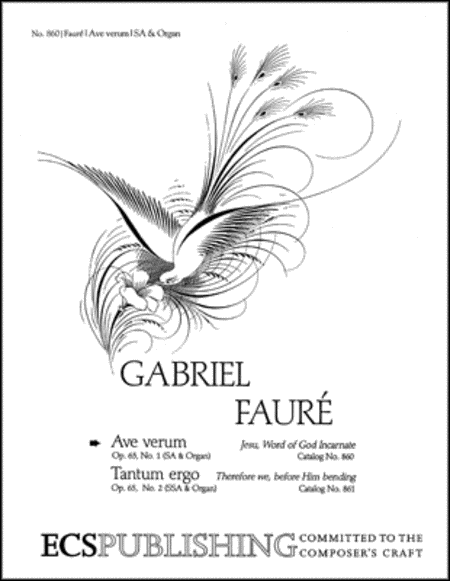 Ave verum Corpus, Op. 65/1