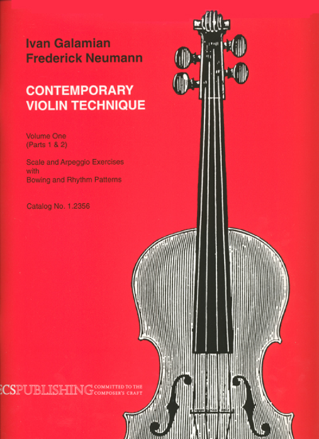 Contemporary Violin Technique, Volume 1