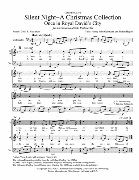 Silent Night-A Christmas Collection: Once in Royal David's City