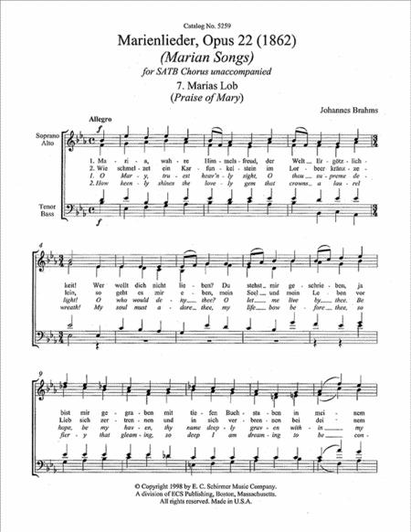 Marias Lob (Praise Of Mary)