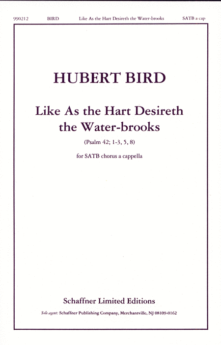 Like As The Hart Desireth The Water-Brooks