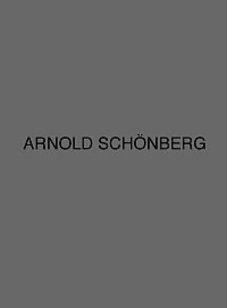 Arnold Schonberg Complete Works Series B Volume 16/2 Gurre-lieder Drafts