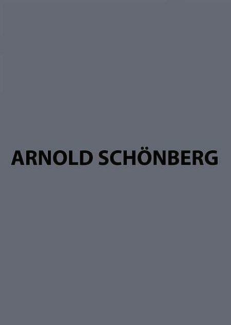 Arnold Schonberg Complete Works Series B Volume 6/2 Ii Die Gluckliche Hand