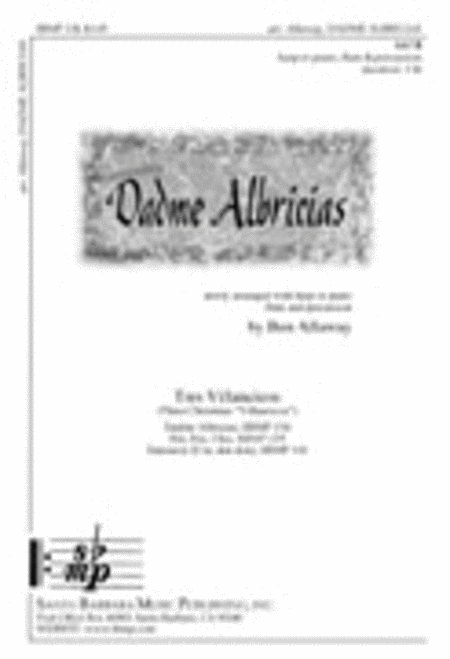 Dadme Albricias - Flute Part