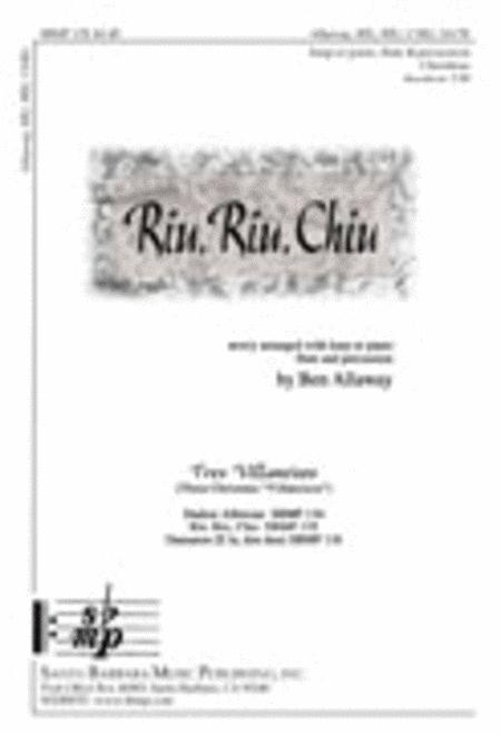 Riu, Riu, Chiu - Percussion part