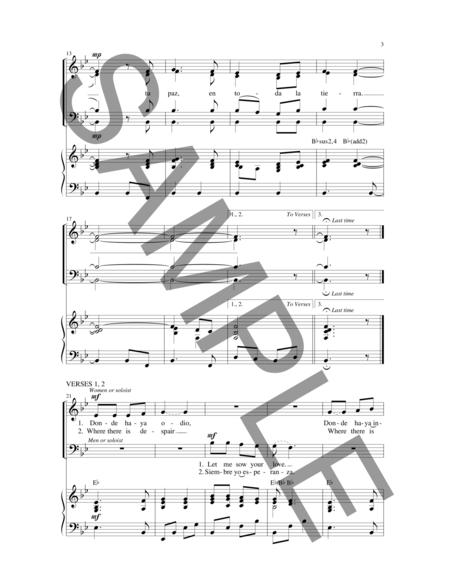 Senor, Hazme un Instrumento de Tu Paz/Lord, Make Me an Instrument of Your Peace