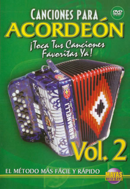 Canciones Para Acordeon Vol. 2, Spanish Only