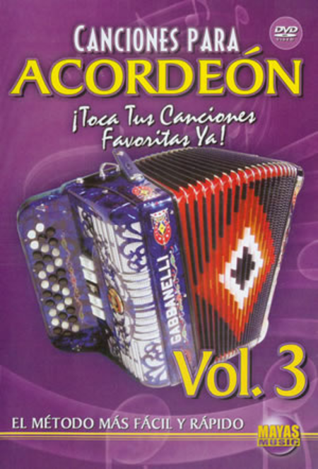 Canciones Para Acordeon Vol. 3, Spanish Only