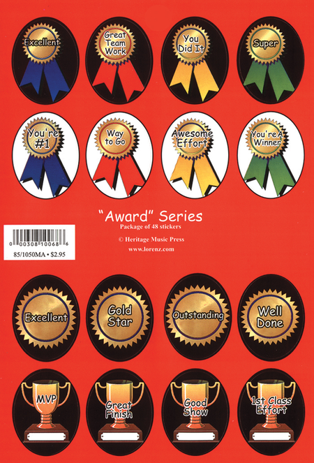 Stickers - Award Series