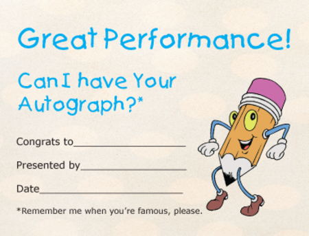 Award Certificates Mini - Autograph Hound